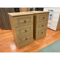 Clearance - Kingstown Toledo 3 Drawer Bedside Chest (Pair)