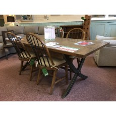 Clearance - Baker Maltings Extending Table & 4 Wooden Chairs