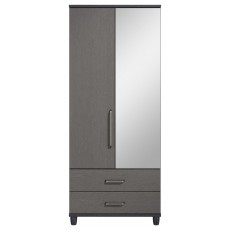 Decade 2 Door Left Hand Mirrored Gents Wardrobe