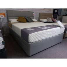 Clearance - Silentnight 5'0' (150cm) Studio Geometric 2+2 Drawer Bedframe with Softer Comfort Mattre