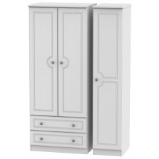 Welcome Bude Triple 2 Drawer Wardrobe