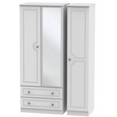 Welcome Bude Triple 2 Drawer Mirror Wardrobe