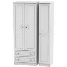 Welcome Bude Tall Triple 2 Drawer Wardrobe