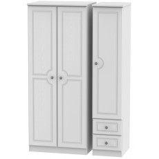Welcome Bude Triple Plain + Drawer Wardrobe