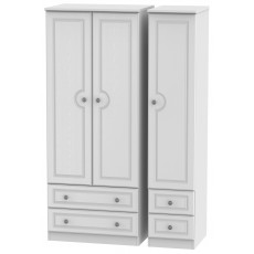 Welcome Bude Triple 2 Drawer + Drawer Wardrobe