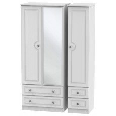 Welcome Bude Triple 2 Drawer Mirror + Drawer Wardrobe