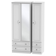 Welcome Bude Tall Triple 2 Drawer Mirror + Drawer Wardrobe