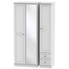 Welcome Bude Tall Triple Mirror + Drawer Wardrobe