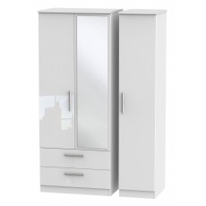 Welcome Infinity Triple 2 Drawer Mirror Robe