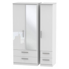 Welcome Infinity Triple 2 Drawer Mirror + Drawer Robe