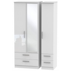 Welcome Infinity Tall Triple 2 Drawer Mirror + Drawer Robe