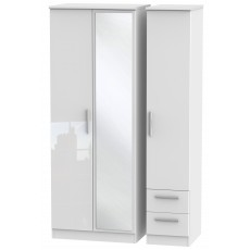 Welcome Infinity Tall Triple Mirror + Drawer Robe