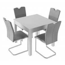 Kingstown Alpha Fixed Top Table & 4 Chairs