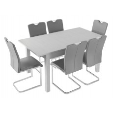 Kingstown Alpha Extending Table & 6 Chairs