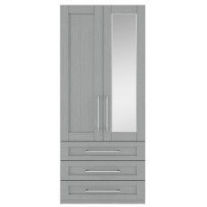Kingstown Alpha Tall 2 Door 3 Drawer R/H Mirror Robe L/H Plain Gents Robe