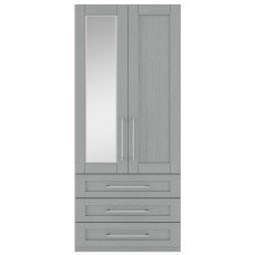 Kingstown Alpha Tall 2 Door 3 Drawer L/H Mirror Robe R/H Plain Gents Robe