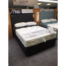 Clearance - Harrison Kew 4'6' (135cm) Double Dual-Tension 4 Drawer Divan PLUS Andalucia Headboard