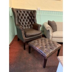 Clearance - Tetrad Mackenzie Chair & Footstool in Leather