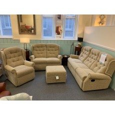 Clearance - Celebrity Woburn 3 Seater Manual, 2 Seater Power, Fixed Chair & Footstool
