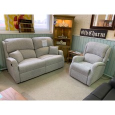 Clearance - Celebrity Langham 3 Seater Manual Reclining Sofa & Power Chair