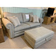 Clearance - Alstons Cambridge 3 Seater Sofa & Storage Ottoman