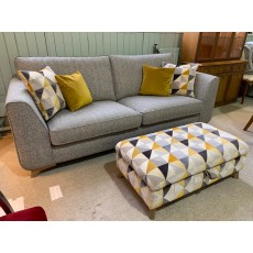 Clearance - Alstons Stockholm Grand Sofa & Legged Ottoman