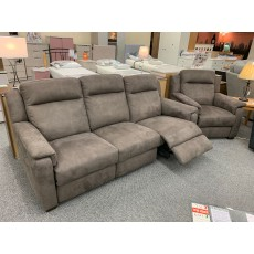 Clearance - HTL Atlanta 3 Seater Manual Reclining Sofa & Power Chair