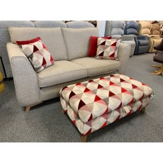 Clearance - Alstons Stockholm 2 Seater Sofa & Legged Ottoman