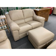 Clearance - HTL Manhattan 2 Seater Sofa & Footstool