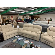 Clearance - Parker Knoll Boston 3 Seater Power Sofa, 2 Seater Sofa & Manual Reclining Chair