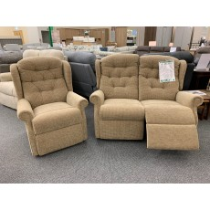 Clearance - Celebrity Woburn 2 Seater Power Reclining Sofa, Chair & Footstool