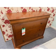 Clearance - Willis Gambier Louis Phillipe 4 Drawer Wide Chest