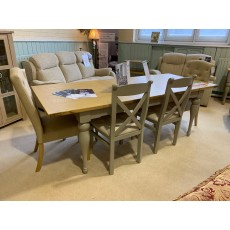 Clearance - Willis Gambier Malvern Extending Dining Table, 2 X-Back Chairs, 2 Stanza Chairs & Bench