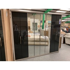 Clearance - Kingstown Cosmos 8 Door Centre Mirror Wardrobe