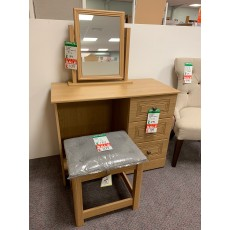 Clearance - Kingstown Toledo Dressing Table, Mirror & Stool