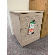 Clearance - Kingstown Toledo Elm 2 Drawer Bedside Chest