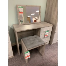 Clearance - Kingstown Leon Dressing Table, Mirror & Stool