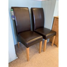 Clearance - Willis Gambier Fletton Chairs (Pair) - Brown