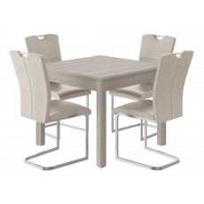 Kingstown Cosmos Fixed-Top Dining Table & 4 Chairs