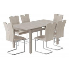 Kingstown Cosmos Extending Dining Table & 6 Chairs