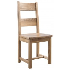 Columbia Farmhouse Dining Chair - Wooden Seat (Pair)
