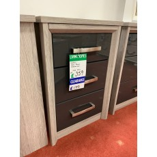 Clearance - Kingstown Cosmos 3 Drawer Narrow Chest - Graphite
