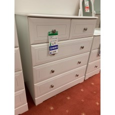 Clearance - Kingstown Nicole 3 + 2 Drawer Chest - White