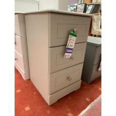 Clearance - Kingstown Nicole 3 Drawer Narrow Chest - Grey