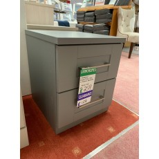 Clearance - Kingstown Alpha 2 Drawer Bedside Chest - Dust Grey