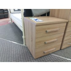 Clearance - Rauch Molmo 3 Drawer Bedside Chest