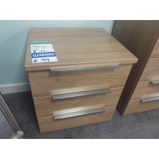 Clearance - Rauch Nemuro 3 Drawer Bedside Chest