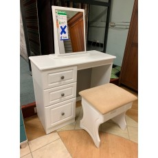 Clearance - Welcome Bude Vanity/Mirror/Stool - White