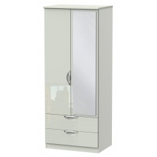 Welcome Cambridge 2ft 6in 2 Drawer Mirror Robe