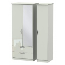 Welcome Cambridge Triple 2 Drawer Mirror Robe